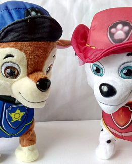 2 PELUCHES CHASE Y MARSHALL  DE PATRULLA CANINA